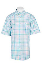 Ariat Pro Series Griffin White Windowpane S/S Western Shirt