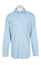 Ariat Men's Blue Sky Windowpane Kendall Shirt L/S Wrinkle Free Western Shirt