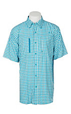 Ariat Ventek Men's Perfect Turquoise Plaid S/S Work Shirt