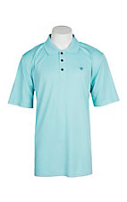 Ariat Men's Blue Radiance Heat Series Tek Polo Shirt