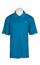 Ariat Men's Mukonos Blue Heat Series Tek Polo Shirt