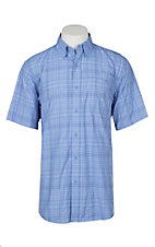 Ariat Ventek Men's Delphinium Plaid S/S Work Shirt