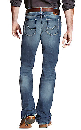Ariat Men's Medium Wash M4 Cole Fargo Stretch Boot Cut Jeans