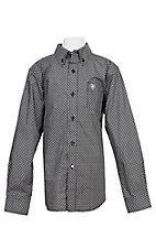 Ariat Boys Black Geo Print Cavender's Exclusive L/S Western Shirt