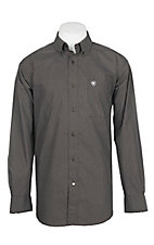 Ariat Men's Dark Brown Geo Print Cavender's Exclusive L/S Western Shirt