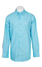 Ariat Men's Light Blue Miracle Geo Print L/S Cavender's Exclusive Western Shirt - Big and Tall