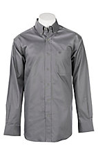 Ariat Men's Solid Grey Cavender's Exclusive Long Sleeve Western Shirt