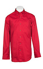 Ariat Men's Solid Red L/S Cavender's Exclusive Western Shirt