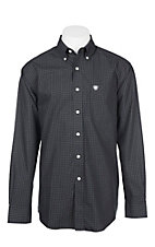 Ariat Men's Black Wrinkle Free Quade Plaid L/S Cavender's Exclusive Western Shirt