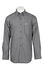 Ariat Men's Black Geo Print Cavender's Exclusive L/S Western Shirt