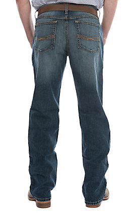 Ariat Men's M4 Legacy Dark Wash Relaxed Fit Boot Cut Stretch Jean - Extended Sizes (42-44)
