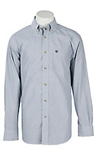 Ariat Pro Series Men's True Navy Stripe Cavender's Exclusive Western Shirt