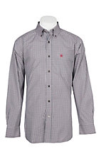 Ariat Pro Series Red and Black Rockville Plaid Cavender's Exclusive L/S Western Shirt