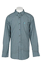 Ariat Pro Series Men's Lehman Black Plaid L/S Western Shirt
