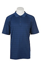 Ariat Men's Blue Depths Striped Short Sleeve Heat Series VentTEK Polo