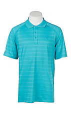 Ariat Men's Perfect Turquoise Striped Short Sleeve Heat Series VentTEK Polo