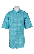 Ariat Pro Series Men's Negan Blue Bird Plaid S/S Western Shirt