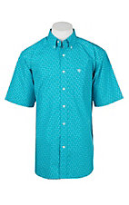 Ariat Men's Nevan Turquoise Skull Print Short Sleeve Western Shirt