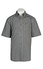 Ariat Pro Series Men's Potting Soil Newton Plaid S/S Western Shirt