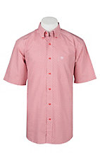 Ariat Men's Nyle Hibiscus Pink Geo Print Short Sleeve Western Shirt