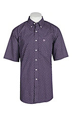 Ariat Men's Wrinkle Free Plum Paul Print S/S Western Shirt