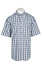 Ariat Men's Wrinkle Free White Penley Plaid S/S Western Shirt