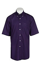 Ariat Men's Wrinkle Free Solid Plum S/S Western Shirt