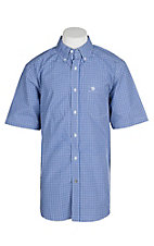 Ariat Pro Series Men's Dark Skye Marrick Plaid S/S Western Shirt