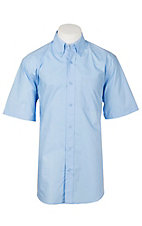 Ariat Men's Solid Poplin Noon Sky Short Sleeve Western Shirt