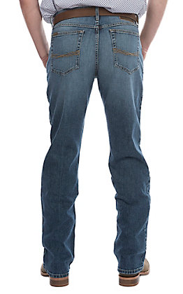 Ariat Men's M2 Brandon Legacy Medium Wash Relaxed Stretch Boot Cut Jeans