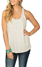 Ariat Women's White Dani Lace Overlay Tank Casual Knit Shirt