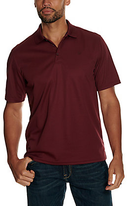 Ariat Men's Maroon Heat Series Tek Polo Shirt
