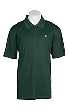 Ariat Men's Pine Green Heat Series Tek Polo Shirt