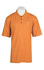 Ariat Men's Texas Orange Heat Series Tek Polo Shirt