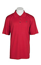 Ariat Men's True Crimson Stripe Heat Series Tek Polo Shirt