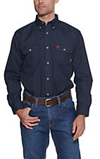 Ariat Work FR Men's Featherlight Navy Long Sleeve Work Shirt