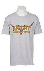 Ariat Men's Athletic Grey Longhorn T-Shirt