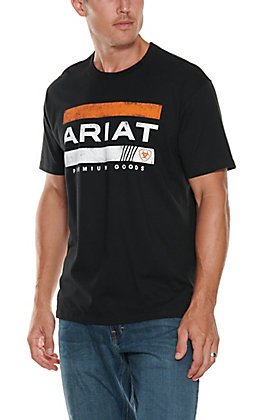 Ariat Men's Black Bar Stripe Logo T-Shirt