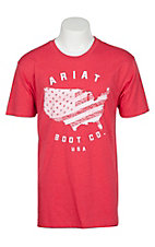 Ariat Men's Red USA Boot Co S/S T-Shirt