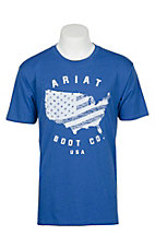 Ariat Men's Blue USA Boot Co S/S T-Shirt