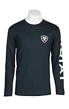 Ariat Men's Navy Branded L/S Graphic T-Shirt