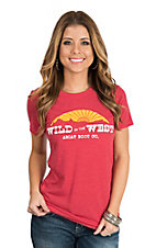 Ariat Women's Heather Red Wild in the West S/S T-Shirt