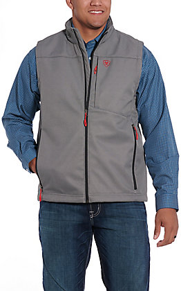 Ariat Men's Vernon Grey and Red Softshell Vest