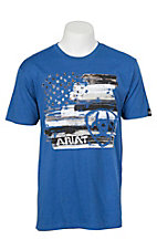 Ariat Men's Heather Royal Blue American S/S T-Shirt