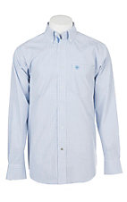 Ariat Pro Series Black, Blue and White Aiden Grid Print Cavender's Exclusive L/S Western Shirt