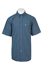 Ariat Pro Series Blue Pine Caleb Checkered S/S Cavender's Exclusive Western Shirt