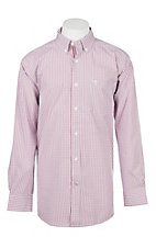 Ariat Pro Series Hibiscus Mini Plaid Cavender's Exclusive L/S Western Shirt - Big & Tall