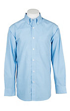 Ariat Men's Light Blue Jonah Print L/S Cavender's Exclusive Western Shirt