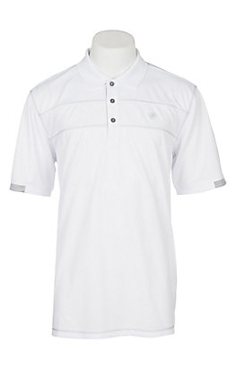 Ariat Men's White Heat Series Cavender's Exclusive Tek Polo Shirt