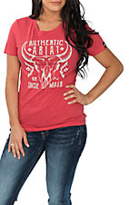 Ariat Women's Heathered Red Native Skull T-Shirt